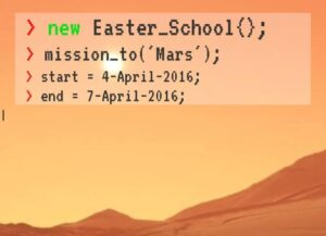 Sign up for the Easter Coding School!