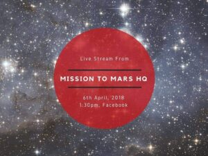 We'll be live streaming at 1:30pm today. Join our #MissionToMars participants and special guests on Facebook